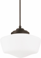 Seagull 6543791S-782 Academy Heirloom Bronze LED Medium Pendant Hanging Light