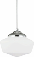 Seagull 65437BLE-05 Academy Chrome Fluorescent Large Drop Ceiling Lighting