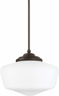 Seagull 65437EN-782 Academy Heirloom Bronze LED Mini Ceiling Pendant Light