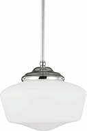 Seagull 65438-05 Academy Chrome Large Drop Ceiling Light Fixture