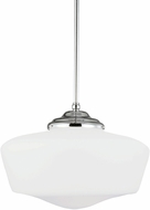 Seagull 6543991S-05 Academy Chrome LED Extra Large Hanging Pendant Light