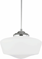 Seagull 65439BLE-05 Academy Chrome Fluorescent Drop Ceiling Lighting