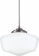 Seagull 65439BLE-962 Academy Brushed Nickel Fluorescent Ceiling Pendant Light