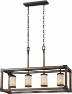 Seagull 6613304BLE-846 Dunning Stardust / Cerused Oak Fluorescent Kitchen Island Lighting