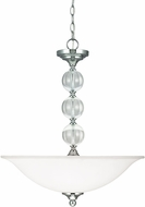 Seagull 6613403-05 Englehorn Chrome / Optic Crystal Hanging Lamp