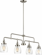 Seagull 6614504-962 Belton Modern Brushed Nickel Kitchen Island Light Fixture