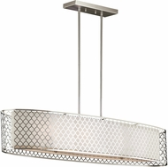 Seagull 6615504EN-962 Jourdanton Modern Brushed Nickel LED Kitchen Island Lighting