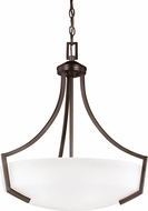 Seagull 6624503EN-710 Hanford Burnt Sienna LED Hanging Pendant Lighting
