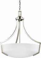 Seagull 6624503EN-962 Hanford Brushed Nickel LED Hanging Pendant Light
