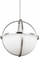Seagull 6624603BLE-962 Alturas Modern Brushed Nickel Fluorescent Pendant Lighting Fixture