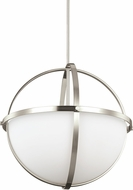Seagull 6624603EN-962 Alturas Modern Brushed Nickel LED Hanging Light Fixture