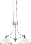 Seagull 66350EN-965 Laurel Leaf Antique Brushed Nickel LED Island Light Fixture