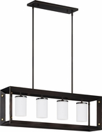 Seagull 6640504EN-71 Chatauqua Contemporary Antique Bronze LED Kitchen Island Light Fixture