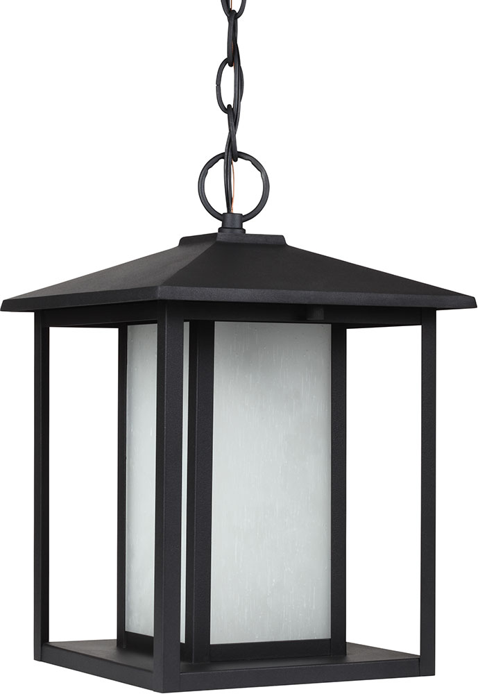 Seagull 69029EN 12 Hunnington Modern Black LED Exterior Pendant Lighting Fixt