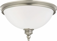 Seagull 75350EN-965 Laurel Leaf Antique Brushed Nickel LED Flush Ceiling Light Fixture