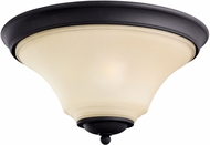 Seagull 75375EN-839 Somerton Blacksmith LED Flush Mount Ceiling Light Fixture