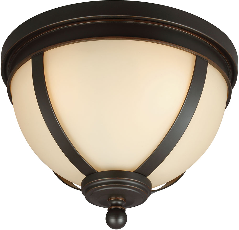 seagull 7590403 715 sfera modern autumn bronze flush mount