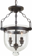 Seagull 77046-715 Westminster Autumn Bronze Foyer Lighting Fixture / Ceiling Lighting