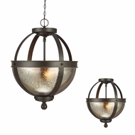 Seagull 7710402BLE-715 Sfera Modern Autumn Bronze Fluorescent Pendant Light / Ceiling Lighting Fixture