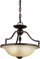 Seagull 7710602BLE-191 Trempealeau Roman Bronze Fluorescent Pendant Lamp / Flush Lighting