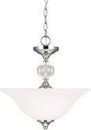 Seagull 7713402BLE-05 Englehorn Chrome / Optic Crystal Fluorescent Hanging Light / Overhead Lighting