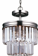 Seagull 7714002-965 Carondelet Antique Brushed Nickel Drum Pendant Lighting Fixture / Flush Mount Lighting Fixture