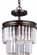 Seagull 7714002BLE-710 Carondelet Burnt Sienna Fluorescent Drum Hanging Pendant Lighting / Flush Ceiling Light Fixture