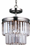 Seagull 7714002BLE-965 Carondelet Antique Brushed Nickel Fluorescent Hanging Pendant Light / Flush Mount Ceiling Light Fixture