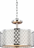Seagull 7715502BLE-962 Jourdanton Modern Brushed Nickel Fluorescent Hanging Light Fixture / Overhead Light Fixture