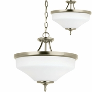 Seagull 77180EN-965 Montreal Antique Brushed Nickel LED Hanging Pendant Lighting / Flush Mount Light Fixture