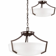 Seagull 7724503EN-710 Hanford Burnt Sienna LED Hanging Pendant Light / Flush Mount Lighting Fixture