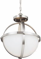 Seagull 7724602-962 Alturas Contemporary Brushed Nickel Drop Lighting / Overhead Lighting Fixture