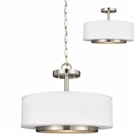 Seagull 7728002EN-962 Nance Contemporary Brushed Nickel LED Ceiling Light Pendant / Overhead Lighting Fixture