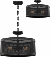 Seagull 7728502-12 Gereon Contemporary Black Pendant Lighting / Ceiling Light