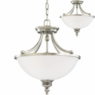 Seagull 77350EN-965 Laurel Leaf Antique Brushed Nickel LED Drop Ceiling Light Fixture / Ceiling Light
