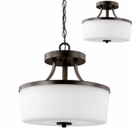 Seagull 7739102EN-710 Hettinger Modern Burnt Sienna LED Drop Lighting Fixture / Ceiling Light Fixture