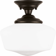 Seagull Academy Heirloom Bronze Flush Mount Ceiling Light Fixture