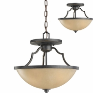 Seagull 77520EN-845 Roslyn Flemish Bronze LED Pendant Light / Ceiling Light Fixture