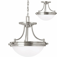 Seagull 77660EN-962 Winnetka Brushed Nickel LED Pendant Lamp / Flush Mount Lighting