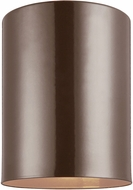 Seagull 7813801-10 Outdoor Bullets Contemporary Bronze Outdoor Ceiling Light