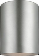Seagull 7813801EN-753 Contemporary Painted Brushed Nickel LED Outdoor Flush Ceiling Light Fixture