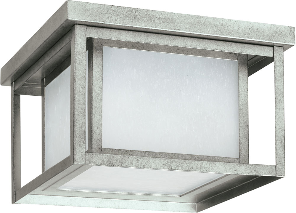 Seagull 79039-57 Hunnington Modern Weathered Pewter LED Exterior ...