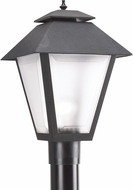 Seagull 82065EN3-12 Polycarbonate Contemporary Black LED Outdoor Post Lighting
