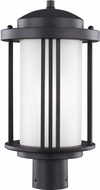 Seagull 8247901EN-12 Crowell Modern Black LED Exterior Lighting Post Light