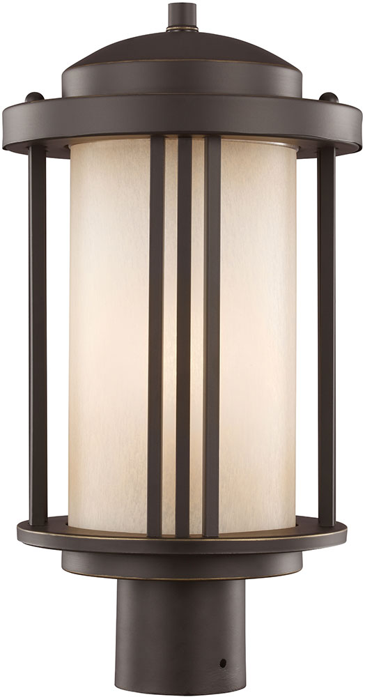 Seagull 8247901en 71 crowell contemporary antique bronze for Contemporary outdoor post light fixtures