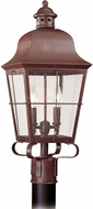 Seagull 8262EN-44 Chatham Traditional Silver LED Exterior Post Lighting Fixture