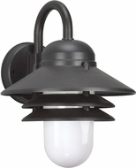 Seagull 83055EN-12 Polycarbonate Black LED Outdoor Wall Light Fixture
