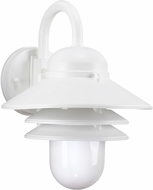 Seagull 83055EN-15 Polycarbonate White LED Exterior Lighting Wall Sconce