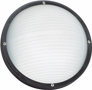 Seagull 83057EN-12 Bayside Modern Black LED Outdoor Wall Lighting Sconce