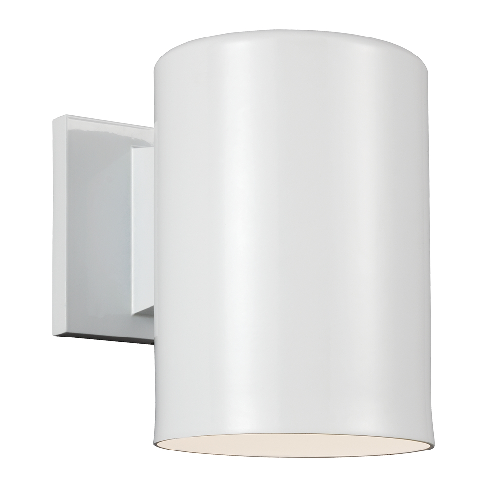 Seagull Outdoor Bullets Modern White Outdoor Wall Light ...